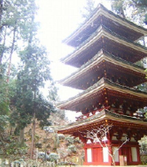 女人高野に建つ我が国最小の五重塔「室生寺」